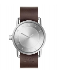 Tid TID Watch No.1 Steel brown walnut leather/silver silver