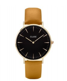 Cluse Cluse Watch La Boheme yellow mustard/black gold