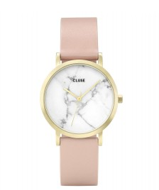 Cluse Cluse Watch La Roche Petite pink nude/white marble gold