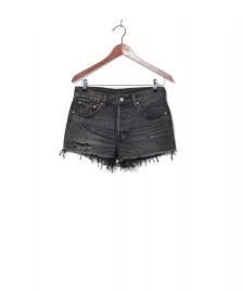 Levis Levis W Shorts 501 grey slashed black