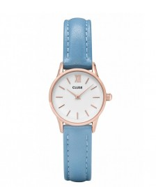 Cluse Cluse Watch La Vedette blue retro/white rosegold