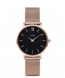 Cluse Cluse Watch Minuit Mesh rosegold/black