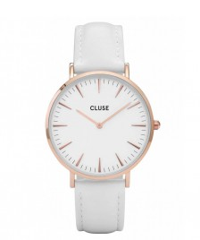 Cluse Cluse Watch La Boheme white/white rose gold