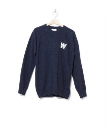 Wood Wood Wood Wood Knit Pullover Samuel blue navy