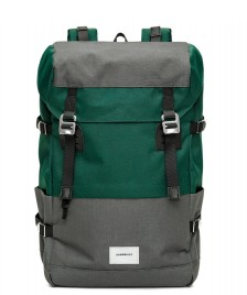 Sandqvist Sandqvist Backpack Harald green deep multi/dark grey
