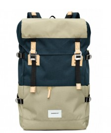 Sandqvist Sandqvist Backpack Harald beige multi/blue