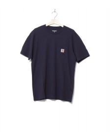 Carhartt WIP Carhartt WIP T-Shirt Pocket blue dark navy