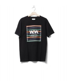 Wood Wood Wood Wood T-Shirt WW Stripes black