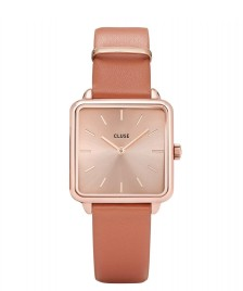 Cluse Cluse Watch La Tetragone orange butterscotch/rose gold rose gold