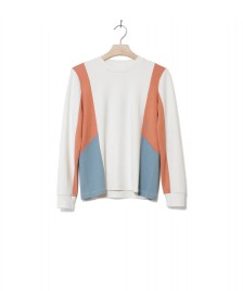 Wood Wood Wood Wood W Longsleeve Sally white off colorblock