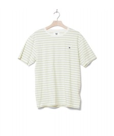 Wood Wood Wood Wood T-Shirt Ace white off/mint stripes