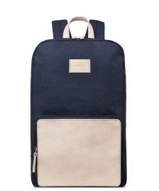 Sandqvist Sandqvist Backpack Kim Grand blue/natural leather