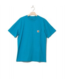 Carhartt WIP Carhartt WIP T-Shirt Pocket blue pizol