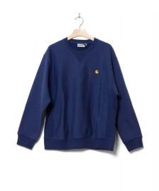 Carhartt WIP Carhartt WIP Sweater American Script blue metro
