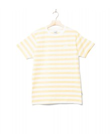 Wemoto Wemoto T-Shirt Script Stripe yellow tender