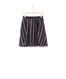 Wemoto Wemoto W Skirt Rations Printed blue dark navy-burgundy