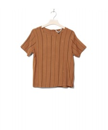 Wemoto Wemoto W T-Shirt Gino Printed brown sugar-black