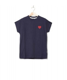 Wemoto Wemoto W T-shirt Heart blue navy