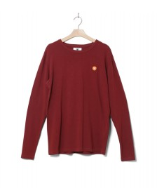 Wood Wood Wood Wood Longsleeve Mel red dark