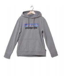 Patagonia Patagonia Hooded P-6 Logo Uprisal grey gravel heather