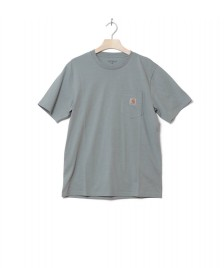 Carhartt WIP Carhartt WIP T-Shirt Pocket blue cloudy