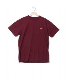 Carhartt WIP Carhartt WIP T-Shirt Chase red merlot/gold