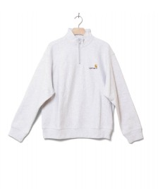 Carhartt WIP Carhartt WIP Half Zip Sweater American Script grey ash heather