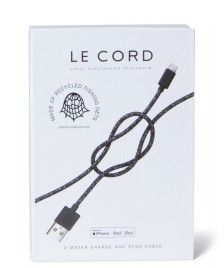 Le Cord Le Cord Charge & Sync Cable Ghost Net black