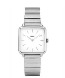 Cluse Cluse Watch La Tetragone 1-Link silver/white silver