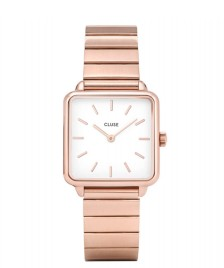 Cluse Cluse Watch La Tetragone 1-Link rose gold/white