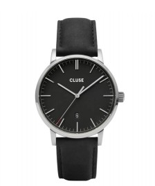 Cluse Cluse Watch Aravis Leather black/black silver