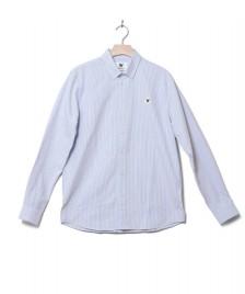 Wood Wood Wood Wood Shirt Ted white off/blue stripes