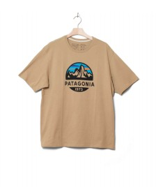 Patagonia Patagonia T-Shirt Fitz Roy Scope brown classic tan