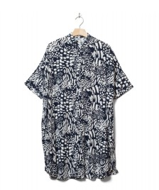 Wemoto Wemoto W Dress Hume Printed blue navy-off white