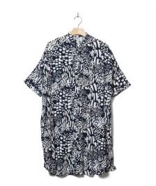 Wemoto Wemoto W Dress Hume Printed blue navy-off white