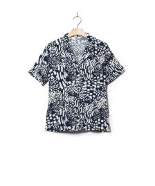 Wemoto Wemoto W Shirt Scotts Printed blue navy-off white