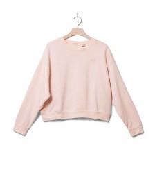 Levis Levis W Sweater Diana Crewneck pink peach blush garment dye