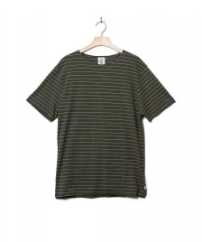 Klitmoller Collective Klitmoller T-Shirt Tom green olive/cream