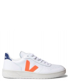 Veja Veja Shoes V-10 Leather white orange fluo cobalt