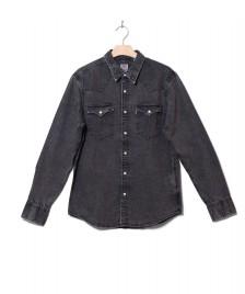 Levis Levis Shirt Barstow Western grey marble black acid wash