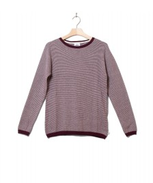 Klitmoller Collective Klitmoller W Knit Rosa red bordeaux/cream