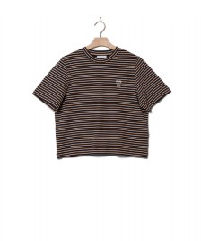 Wood Wood Wood Wood W T-Shirt Alma brown navy stripes