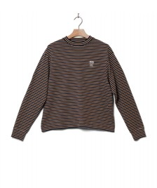 Wood Wood Wood Wood W Longsleeve Astrid brown navy stripes