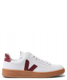 Veja Veja Shoes V-12 Leather white extra marsala gum sole