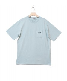 Patagonia Patagonia T-Shirt P-6 Logo Pocket blue big sky