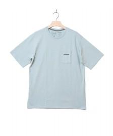 Patagonia Patagonia T-Shirt P-6 Logo Pocket blue big sky