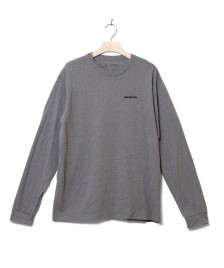 Patagonia Patagonia Longsleeve P-6 Logo grey gravel heather