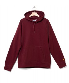 Carhartt WIP Carhartt WIP Hooded Sweater Chase red bordeaux/gold