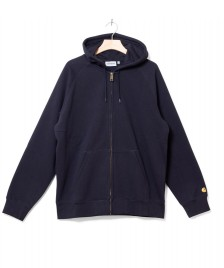 Carhartt WIP Carhartt WIP Zip Hooded Chase blue dark navy/gold