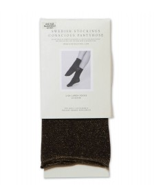 Swedish Stockings Swedish Stockings Socks Lisa black/gold lurex